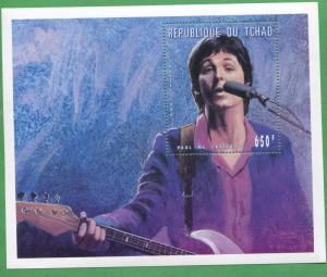 The Beatles the Early Years Commemorative African Souvenir Stamp Sheet Chad E45c
