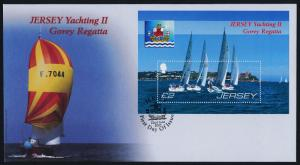 Jersey 1266 on FDC - Gorey Regatta, Yacht Racing