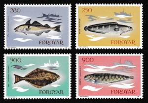 Faroe Is. Fish 4v issue 1983 SG#85-88 SC#97-100