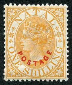 Natal SG108 1/- opt Postage Cat 14 pounds M/M Fine and Fresh