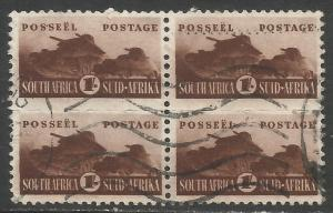 SOUTH AFRICA 97 VFU BLOCK OF 4 W217-1