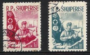Albania 1960 Scott# 561 to 562 used complete