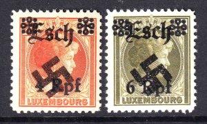 LUXEMBOURG GERMANY OCC ESCH OVERPRINTS OG NH U/M F/VF BEAUTIFUL GUM #4