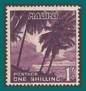 Nauru 1954 Palm Trees, 1s used  #45,SG54