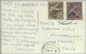 81555 - CHILE - POSTAL HISTORY -   POSTCARD  to ITALY  1956