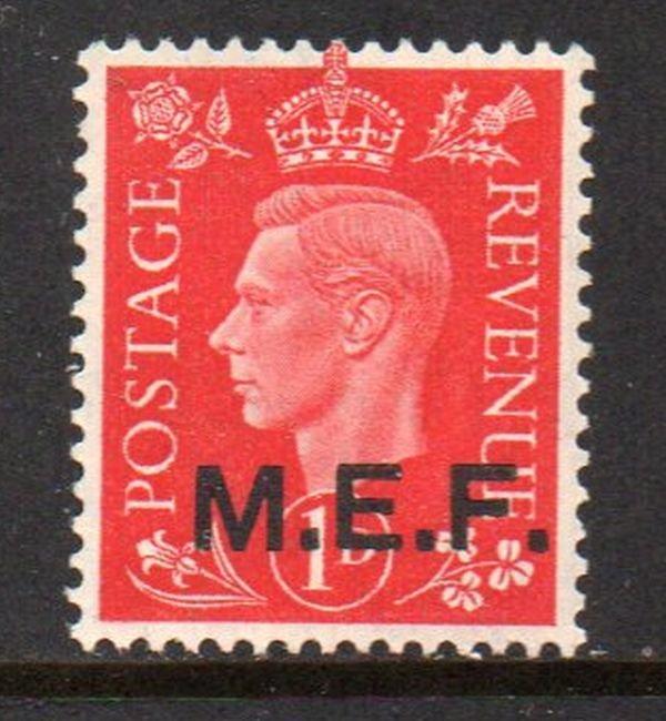 Great Britain M E F Sc 1 1942 1d G VI stamp mint NH