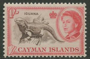 Cayman Islands - Scott 162 - QEII Definitive -1962 - MVLH- Single 1/-  Stamp