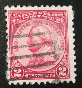 689 Von Steuben, Circulated single, Vic's Stamp Stash