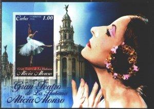 Cuba. 2016. bl332. Ballet. MNH.