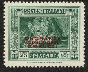 Italian Somaliland, Scott #163, Unused, Hinged
