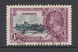 Jamaica Sc 112 used 1935 1sh KGV Silver Jubilee, top value to set, F-VF