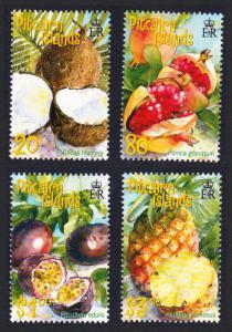 Pitcairn Tropical Fruits 4v SG#591-594 SC#535-538