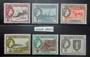 Virgin Islands 115-24. 1956 1/2c-60c QE Pictorials, NH