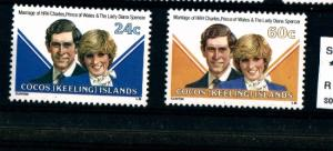 COCOS (KEELING) ISLANDS - Royal Wedding - MNH