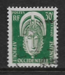 FRENCH WEST AFRICA, O7, USED, OFFICIAL STAMPS MASK