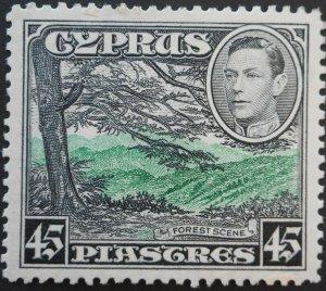 Cyprus 1938 GVI 45 Piastres SG 161 mint