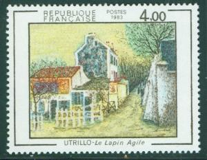 FRANCE Scott 1869 MNH** Le Lapin Agile by Utrillo 1983