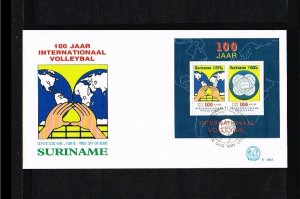 1995 - Rep. Surinam FDC E180A - Sport - Volleyball - 100 years International ...