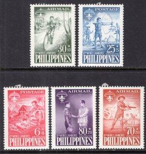 Philippines B10-B11,CB1-CB3 Boy Scouts MNH VF