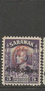 Sarawak Jap Oc 5c Oval Chop + Straight Line Chop MNH (4cnk)