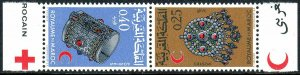 Morocco 191-192a tete-beche pair, MNH. Moroccan Red Crescent Society, 1968