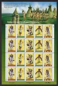 U.S.#3072-76 INDIAN DANCES  MINT, VF, NH   FULL SHEET @ FACE VALUE!