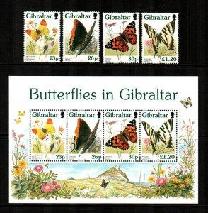Gibraltar #728-731a  MNH  Scott $14.50  Stamps + S/S
