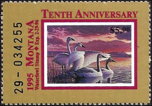 MT43 Mint,OG,NH... State Duck Stamp.. SCV $7.00