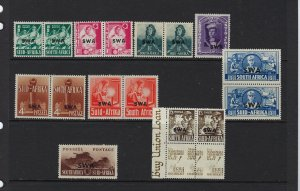 SOUTH WEST AFRICA SCOTT #135-143 1941-43 SET  - MINT SOME HR/LH  HINGED