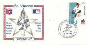 ST. VINCENT 1989 BASEBALL TOM McCARTHY WHITE SOX FDC