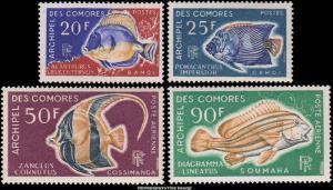 Comoro Islands Scott 74-75, C23-C24 Mint never hinged.