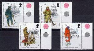 British Antarctic Territory 1998 Sc#259/262 Antarctic Clothing-DOGS  Set (4) MNH