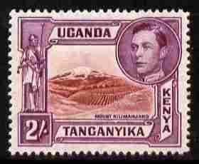 Kenya, Uganda & Tanganyika 1938-54 KG6 Mt Kilimanjaro 2s ...