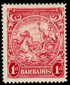BARBADOS SG249a, 1d scarlet, NH MINT. Cat £17. PERF 14