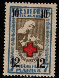 Estonia Scott B14 MH* 1926 Red Cross surcharged Nurse stamp