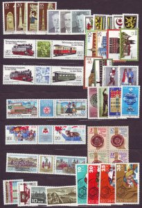 Z623 various 1984 germany DDR complete sets mnh noted 1 set incomplete