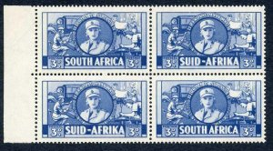 South Africa SG91 3d Blue M/M Block of Four Cat 40+ Pounds