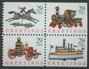 US Scott # 2718 Christmas Greetings Toys Booklet of 20, MNH 1992