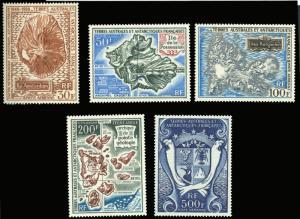 FSAT C19-C23 MNH 1969-71 MAP CV$215.00