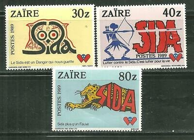Zaire MNH 1249-51 Fight Against Aids