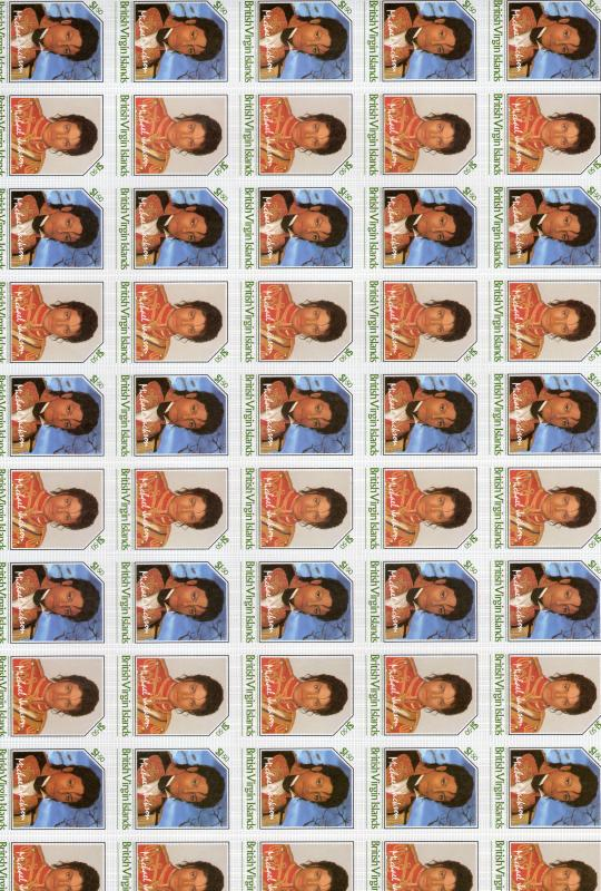 British Virgin Islands 1985 Michael Jackson $1.50 Unissue IMPERFORATED Sheetlet
