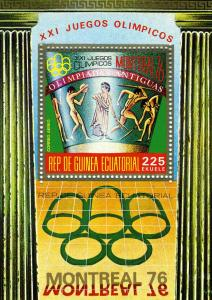 Equatorial Guinea Montreal Olympics 76 s/s Perforated mnh.vf