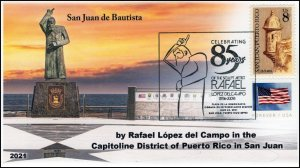 21-161, 2021, Rafael Lopez del Campo, Event Cover, Pictorial Postmark, San Juan