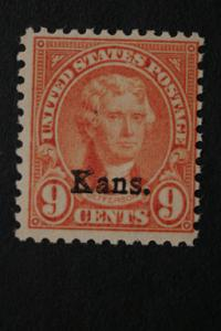 United States #667 Jefferson Kans. Overprint 1929 MNH