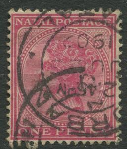 NATAL - Scott 67 - QV Definitive - 1884 - Used - Wmk 2 - Perf.14 - 1p Stamp