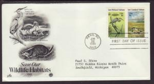 US Wetlands Wildlife Habitat 1981 PCS Typed FDC BIN