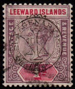$Leeward Islands Sc#10 used, F-VF+, CV. $26