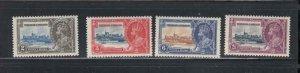 TRINIDAD AND TOBAGO # 43-46 VF-MNH KGV SILIVER JUBILEES