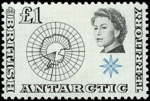 British Antarctic Territory #1-15, Complete Set(15), 1963, Never Hinged