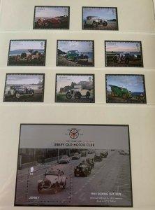 JE24) Jersey 2016 Vintage Cars set of 8 & M/S MUH
